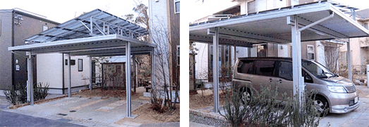 太陽光発電システムのカーポート商品