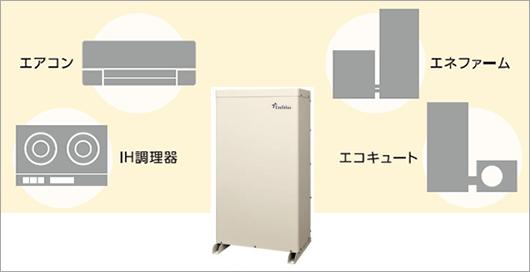 田淵アイビス7 ハイブリッド蓄電池は200v対応可能でエコキュートも使えます!