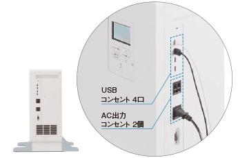 パナソニック蓄電池3.5kwhのUSBコンセントで接続が便利
