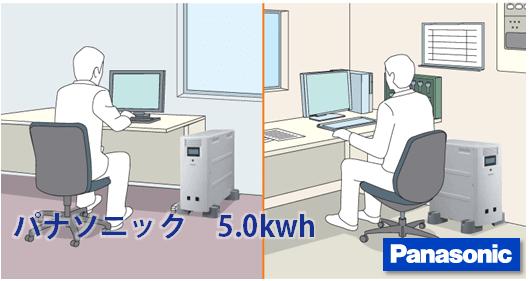 パナソニック蓄電池5kWhの商品内容