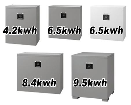 シャープのクラウド蓄電池システム8.4kwh4.2kwhの商品内容