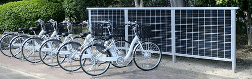ソーラーサイクルステーションの例