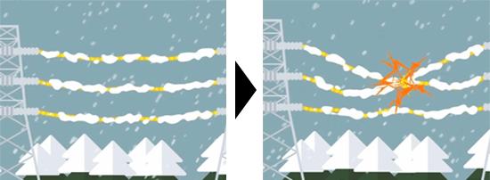 大雪による停電