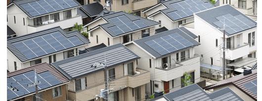 太陽光発電を新築一戸建て6割に設置