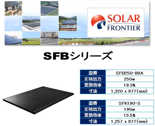 ソーラーフロンティアの商品内容
