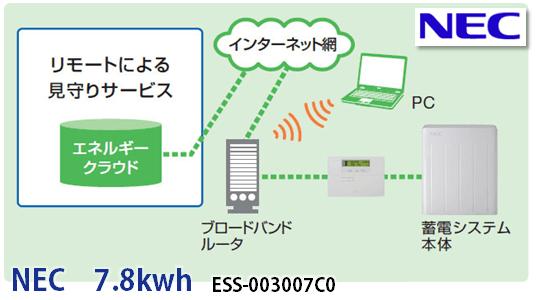NECリチウムイオン蓄電池7.8kwhの商品内容