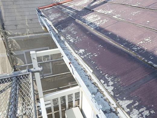 屋根塗装の高圧洗浄後