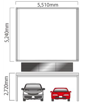太陽光発電システムのカーポートの寸法