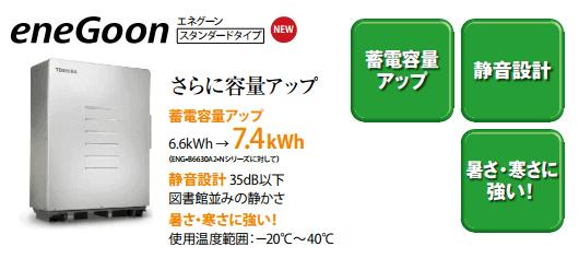 東芝エネグーン蓄電池7.4kwhの商品内容