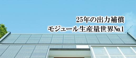 25年の出力補償 モジュール生産量世界No.1