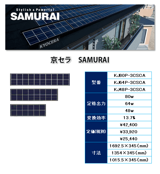 京セラ エコノルーツ243wの商品内容