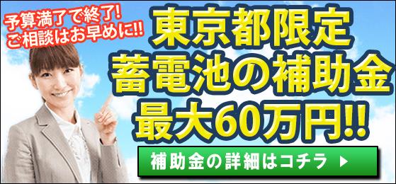 平成31年度、令和元年度の家庭用蓄電池の東京都の補助金
